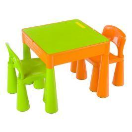 Tega Detská sada Mamut stolček a 2x stolička zelená