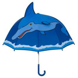 Blooming Brollies Chlapčenský dáždnik s delfínom - modrý
