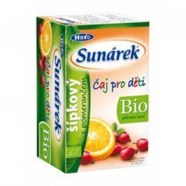 Sunárek BIO detský čaj šípkový s pomarančom 20x1,5g