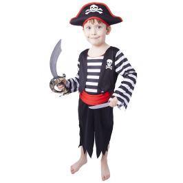 Rappa Karnevalový kostým pirát s čiapkou vel. S