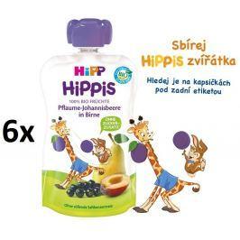HiPP BIO 100% ovocia Hruška-Čierne ríbezle-Švestka 6 x 100 g