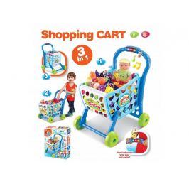 Detský nákupný košík G21 s príslušenstvom BLUE