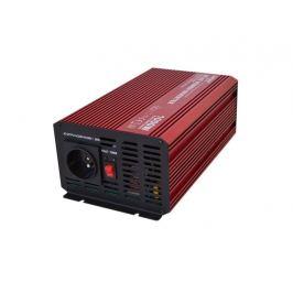 Menič napätia 12V/230V 1000W CZ čistá sinusovka + USB CARSPA
