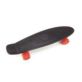 Detský skateboard Teddies BLACK / ORANGE