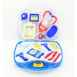 Detský doktor TEDDIES v plastovom kufríku 16ks
