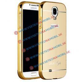 FORCELL Zrkadlový obal Samsung Galaxy S4 zlatý