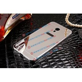 Ochranný zrkadlový obal Meizu M3 Note strieborný