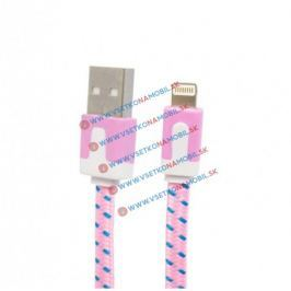 Lightning USB dátový kábel 8 pin - ružový