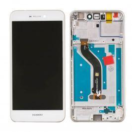 Huawei P9 Lite 2017 LCD Displej + dotyková plocha + RÁM biely