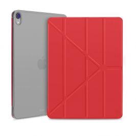 FORCELL LEATHER Zaklápací obal Apple iPad Pro 12.9 (2018) červený