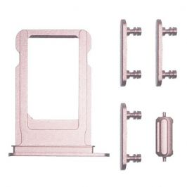UNBRANDED SIM Slot + bočné tlačidlá- Apple iPhone 7 Plus - rose gold (ružová)