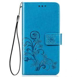 FORCELL ART Peňaženkový kryt LG K41s FLOWERS modrý