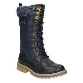 Dievčenská zimná obuv s úpletom