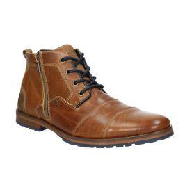 Kožená členková obuv so zipsom