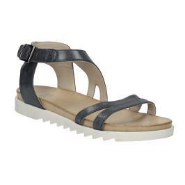 Kožené sandále na výraznej podrážke