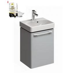 Skrinka s umývadielkom Kolo KOLO 45 cm, platinová šedá, univerzálne otváranie SIKONKOT45PS