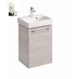 Skrinka s umývadielkom Kolo KOLO 45 cm, jaseň bielený, univerzálne otváranie SIKONKOT45JB