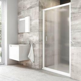Sprchové dvere Ravak Blix posuvné 110 cm, nepriehľadné sklo, biely profil BLDP2110G0