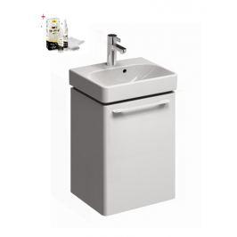 Skrinka s umývadielkom Kolo KOLO 45 cm, biela lesklá, univerzálne otváranie SIKONKOT45BL
