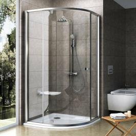 Sprchový kút Ravak Pivot štvrťkruh 100 cm, R 500, sklo číre, satin profil PSKK3100TS