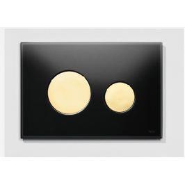Ovládacie tlačidlo Tece Loop sklo v čiernej farbe 9240658