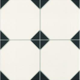 Dlažba Realonda Octagon black 33x33 cm, mat OCTAGONBK