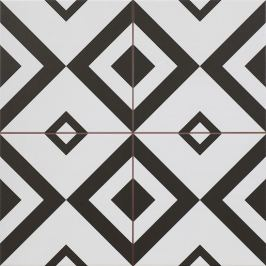 Dlažba Peronda FS Patchworks čiernobiela 45x45 cm, mat BRIXTON45