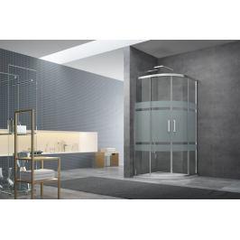 Sprchový kút Siko Tex štvrťkruh 80 cm, R 550, sklo stripe, chróm profil, univerzálny SIKOTEXS80CRS