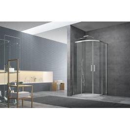 Sprchový kút Siko Tex štvrťkruh 100 cm, R 550, sklo číre, chróm profil, univerzálny SIKOTEXS100CRT