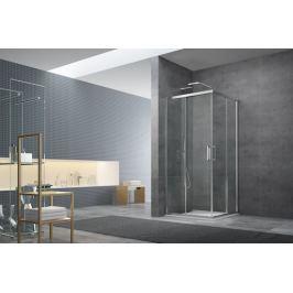 Sprchový kút Siko Tex štvorec 80 cm, sklo číre, chróm profil, univerzálny SIKOTEXQ80CRT