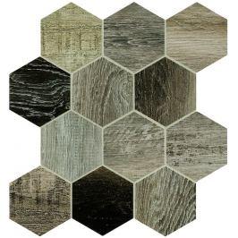 Dlažba Dom Barn Wood grey hexagon 35x37,5 cm, mat, rektifikovaná DBWEM40