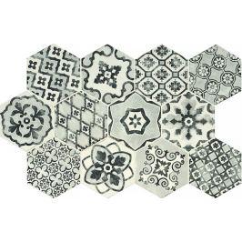 Dlažba Ragno eden bianco dekor romance 21x18,2 cm, mat ERGL2