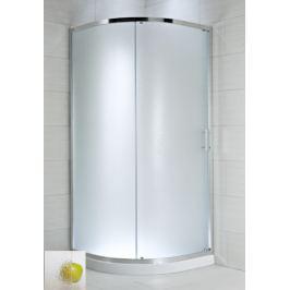 Sprchový kút Jika Plan štvrťkruh 90 cm, R 550, nepriehľadné sklo, chróm profil, univerzálny 5024.2.002.666.1