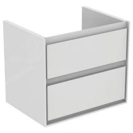Kúpeľňová skrinka pod umývadlo Ideal Standard Connect Air 60x44x51,7 cm v kombinácii svetlo šedá lesk / biela mat E0818EQ