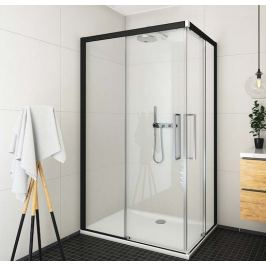Sprchové dvere 80x205 cm levá Roth Exclusive Line čierna matná 560-800000L-05-02