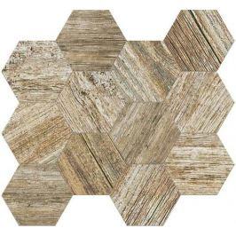 Mozaika Fineza Timber Design ambra hexagon 31,5x36,5 cm, mat, rektifikovaná TIMDEMOSESAM