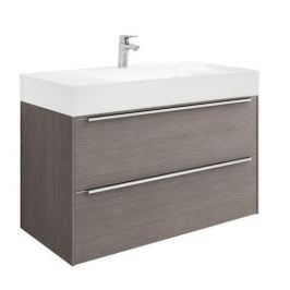 Kúpeľňová skrinka s umývadlom Roca Inspira 100x49,8x55,4 cm dub A851077402
