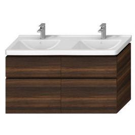Kúpeľňová skrinka pod umývadlo Jika Cubito 128x46,7x68,3 cm v dekore tmavej borovice H40J4274024611