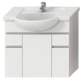 Kúpeľňová skrinka pod umývadlo Jika Lyra plus 77x31,5x70 cm biela H4531520383001