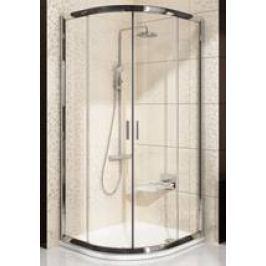 Sprchový kút Ravak Blix štvrťkruh 90 cm, R 500, nepriehľadné sklo, satin profil BLCP490GFS