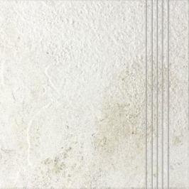 Schodovka Rako Como biela 33x33 cm reliéfní DCP3B692.1