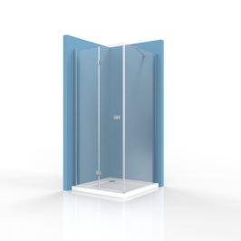 Sprchové dvere Siko SK skladací 90 cm, sklo číre, chróm profil, univerzálny SIKOSK90STENASK80