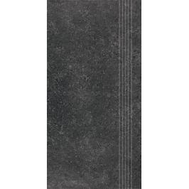 Schodovka Rako Base R čierna 30x60 cm mat DCPSE433.1