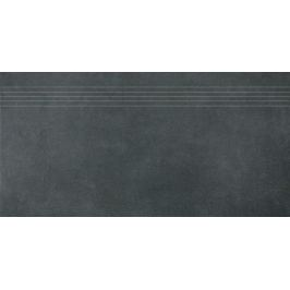Schodovka Rako Extra čierna 40x80 cm, mat, rektifikovaná FINEZA52414