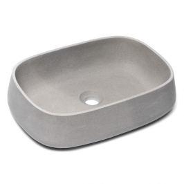 Umývadlo na dosku Triomini Lapis 50x35 cm šedý pieskovec mat bez prepadu LA5035LG