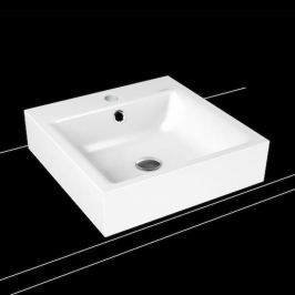 Umývadlo na dosku Kaldewei Puro 3156 46x46 cm alpská biela otvor pre batériu uprostred 900606013001