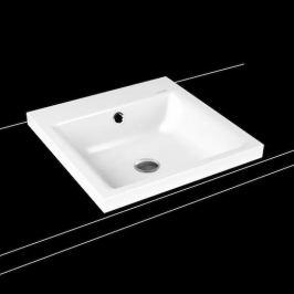 Umývadlo na dosku Kaldewei PURO 46x46 cm alpská biela bez otvoru pre batériu 900306003001