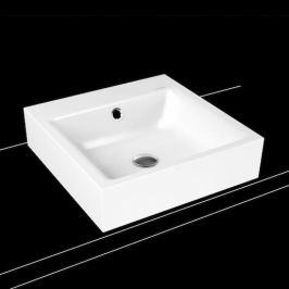 Umývadlo na dosku Kaldewei Puro 3156 46x46 cm alpská biela bez otvoru pre batériu 900606003001