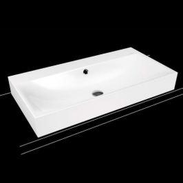 Umývadlo na dosku Kaldewei Silenio 3043 90x46 cm alpská biela bez prepadu 904206273001