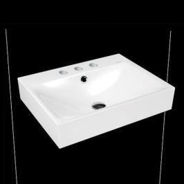 Umývadlo Kaldewei Silenio 3044 60x46 cm alpská biela tri otvory pre batériu 904306033001